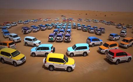 أكبر رقصة متزامنة للسيارات في العالم