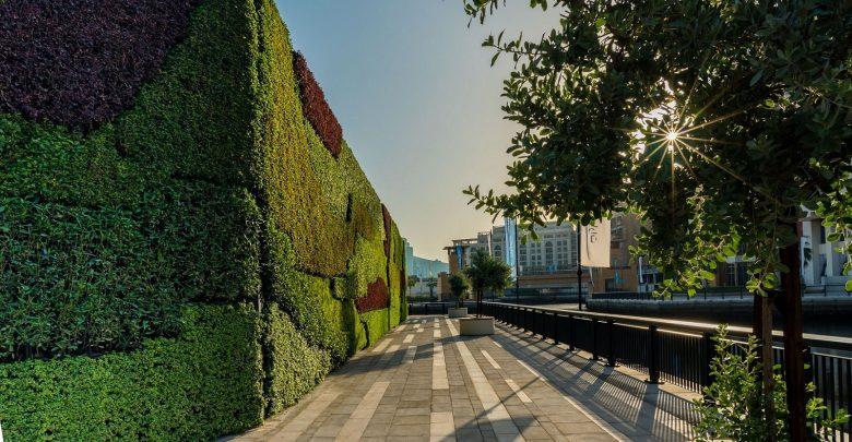 أكبر جدار أخضر بالشرق الأوسط في دبي وورف