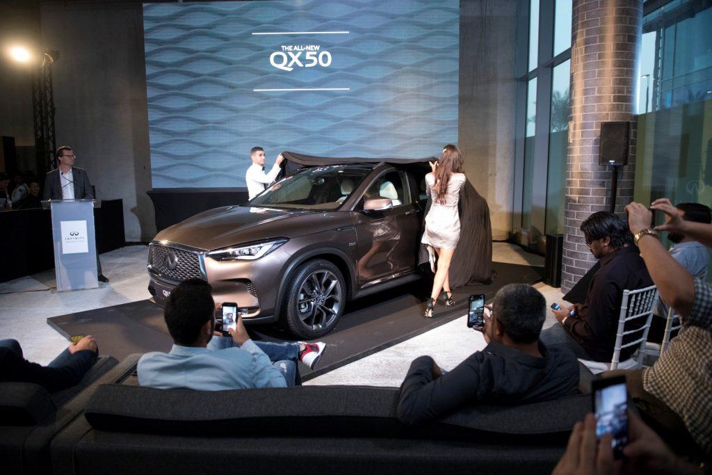 سيارة QX50 الجديدة من إنفينيتي