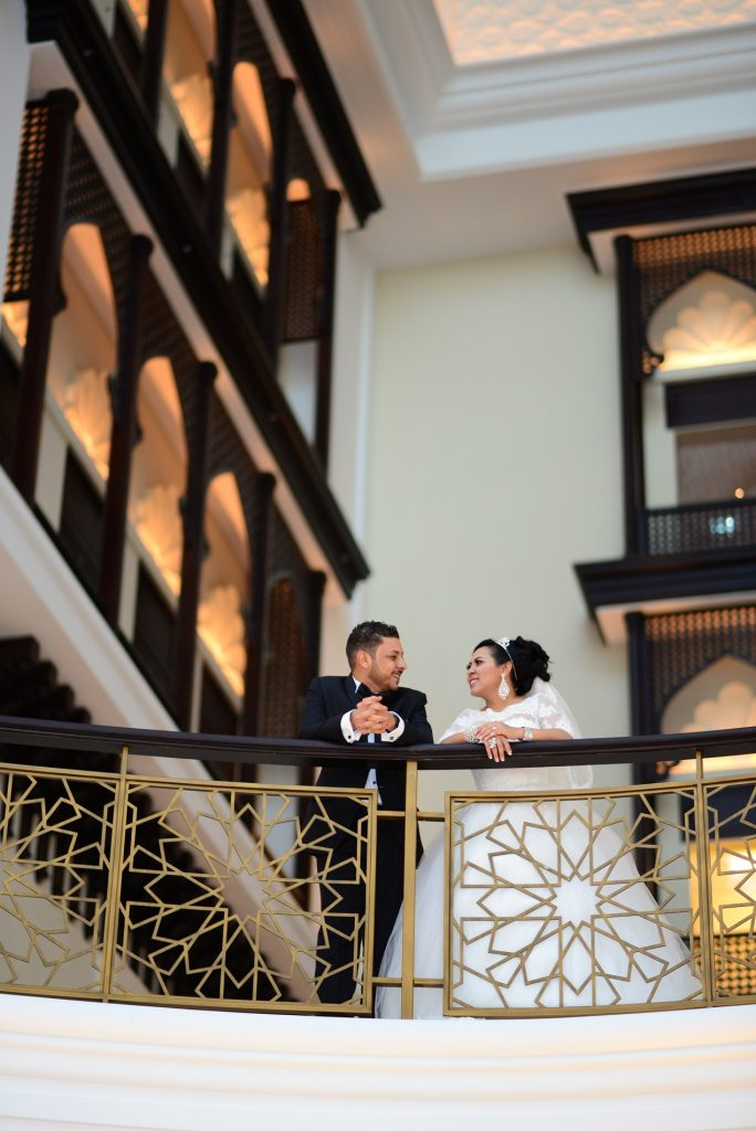 باقات حفلات الزفاف من فندق باب القصر