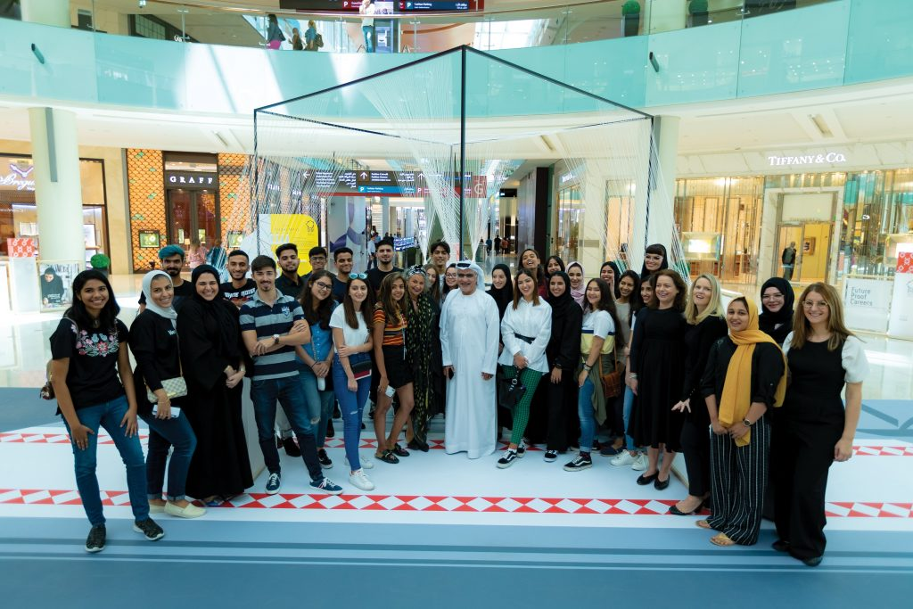 عمل فني تفاعلي في دبي مول