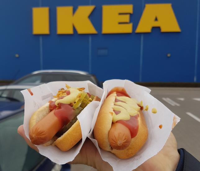 هوت دوغ من إيكيا hot dog ikea
