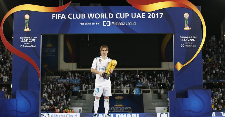 الكرواتي لوكا مودريتش نجم فريق ريال مدريد الإسباني