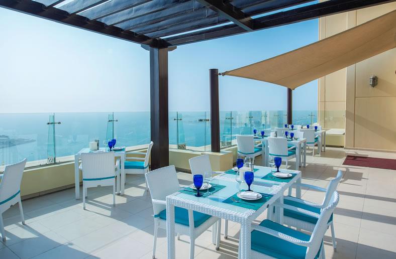 مطاعم فندق هيلتون جي بي آر