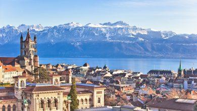 صورة الإطلالات الطبيعية في مدينة لوزان السويسرية
