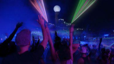 صورة الحفل الختامي لفعالية ليالي الأضواء في ياس ووتروورلد