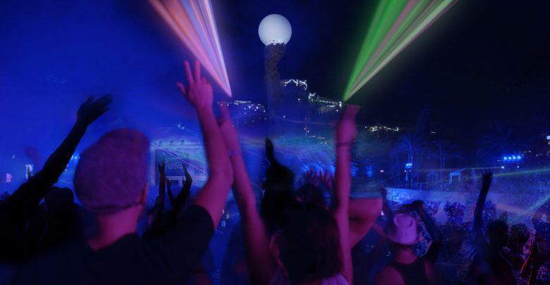 الحفل الختامي لفعالية ليالي الأضواء في ياس ووتروورلد