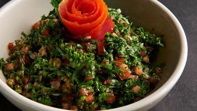 صورة أطباق المازة الساخنة والباردة من مطعم بابل لا مير