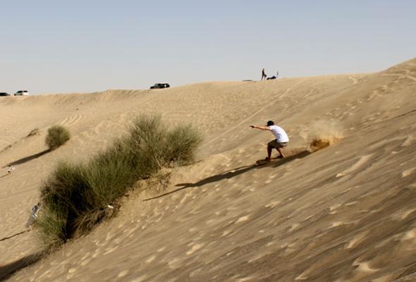الإستمتاع في الصحراء