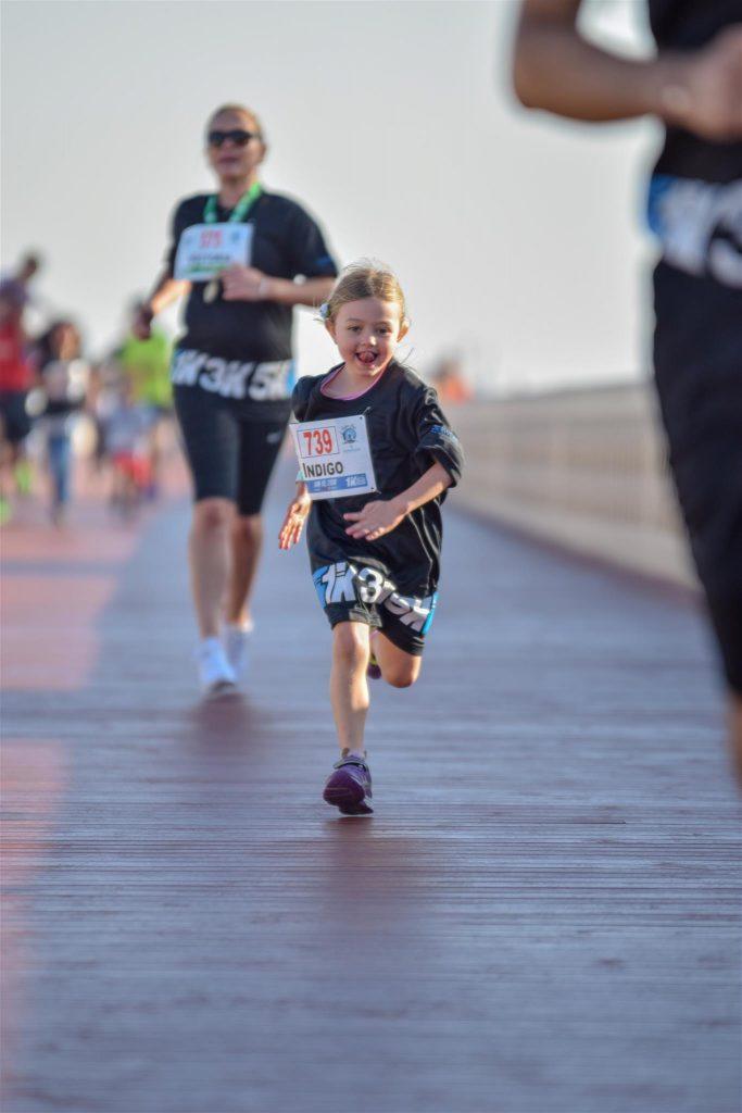أول سباق للجري في دبي فستيفال سيتي