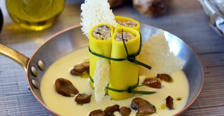 أطباق الفطر بورسيني من مطعم فيلا توسكانا