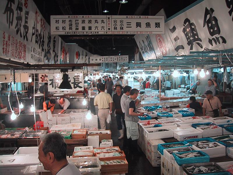 سوق الأسماك تسوكيجي ماركت طوكيو