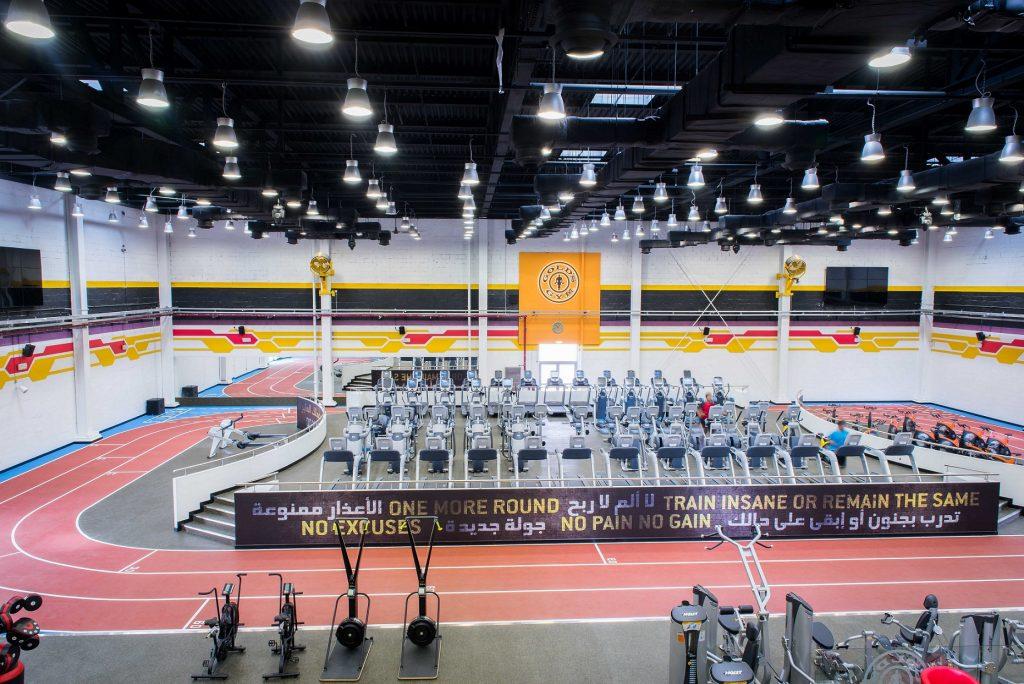 فعاليات جولدز جيم خلال تحدي دبي للياقة 2018