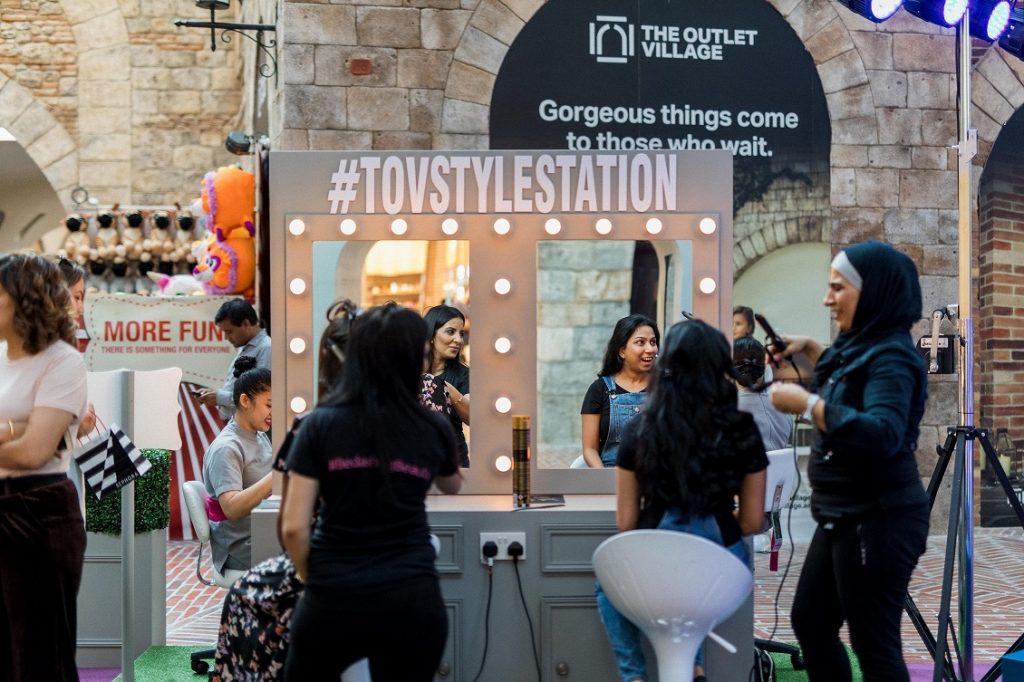 منصة Style Station في ذا أوتليت فيلدج
