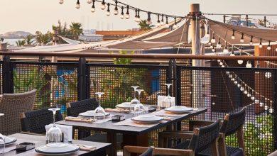 صورة التراس الخارجي لمطعم بابل في لا مير