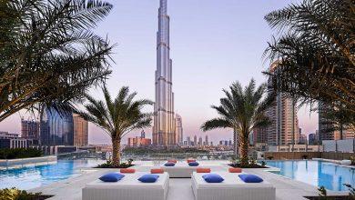 Photo of 5 مسابح بإطلالة جميلة على برج خليفة