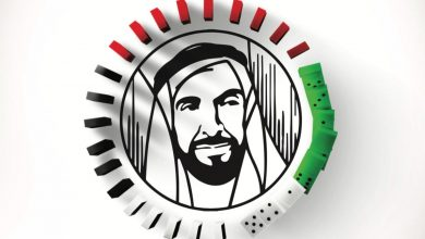 Photo of أكبر لوحة دومينو ترسم شعار عام زايد
