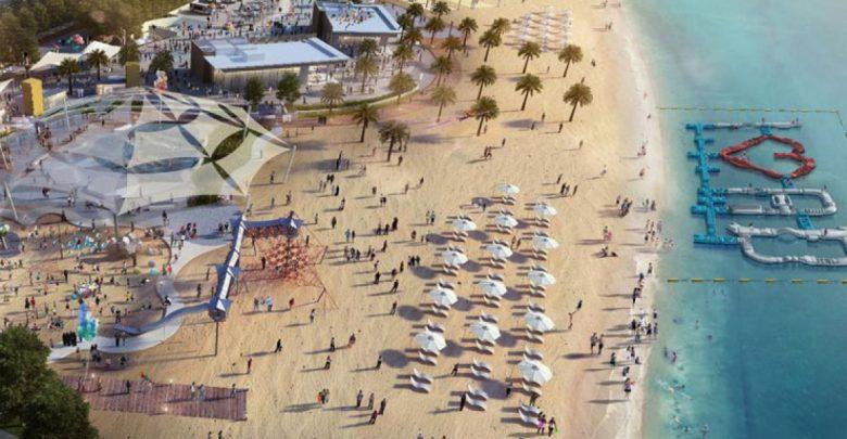 الواجهة البحرية عَ البحر في كورنيش أبوظبي