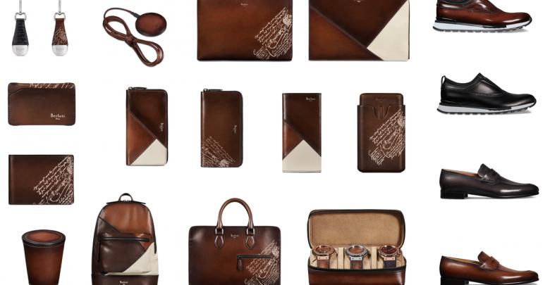 مجموعة القطع الجلدية الرجالية الجديدة من بيرلوتي