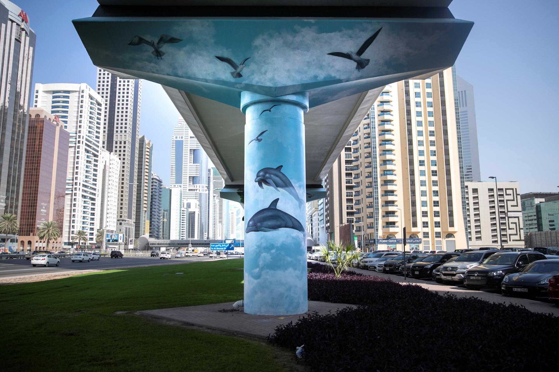 المشروع الفني ميترو مورالز في دبي