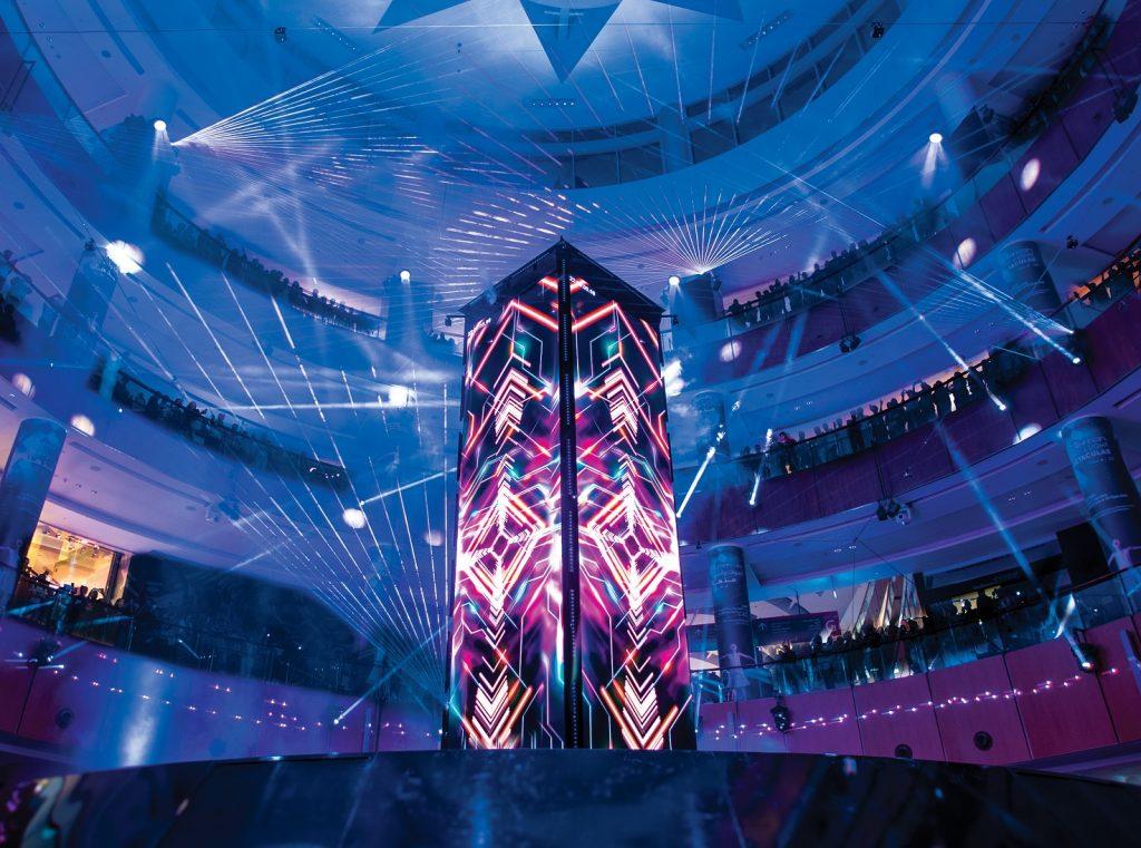 عرض الصوت والأضواء تاليسمان في دبي مول
