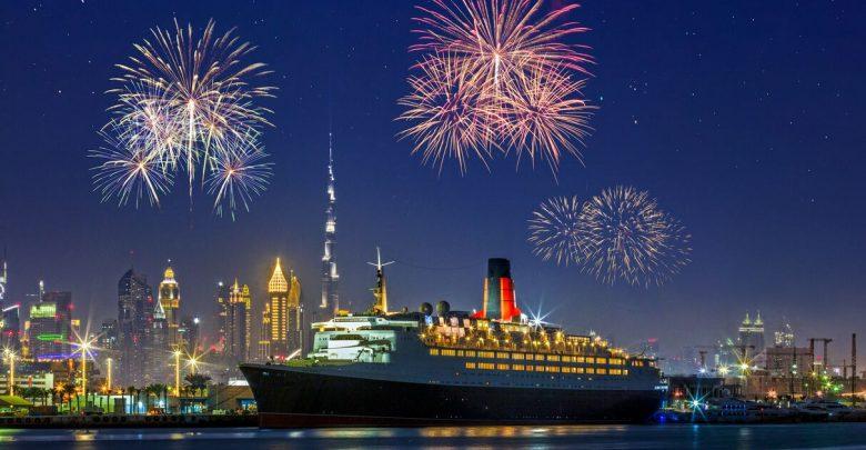 احتفالات رأس السنة في سفينة كوين إليزابيث 2