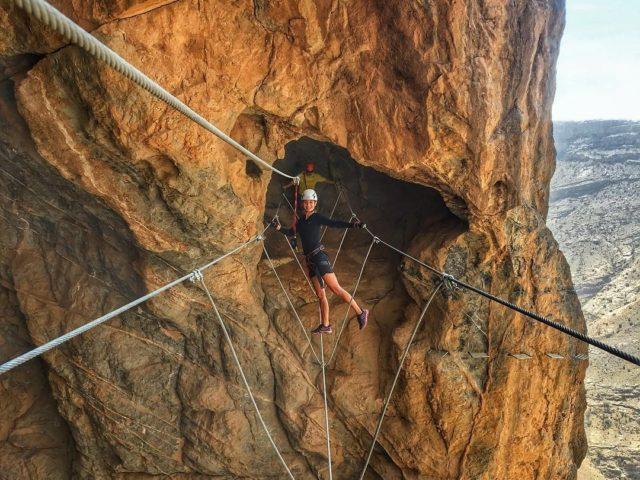 التسلق بمساعدة الحبال Via ferrata ، عمان
