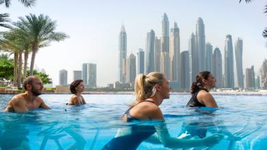 صورة أين تمارس التمارين الرياضية المائية في الشرق الأوسط ؟