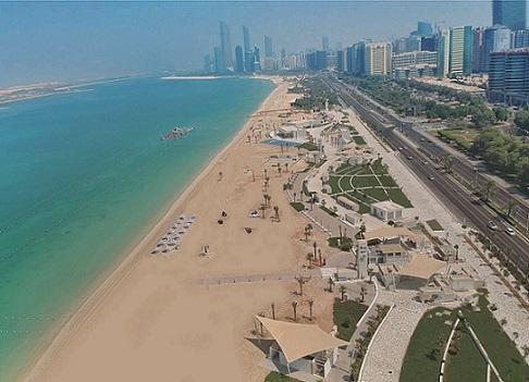 شاطئ ع البحر في أبوظبي