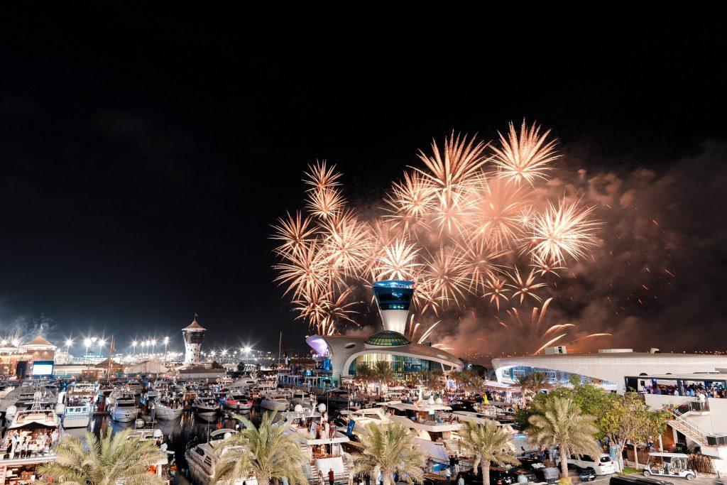 عروض الألعاب النارية في أبوظبي