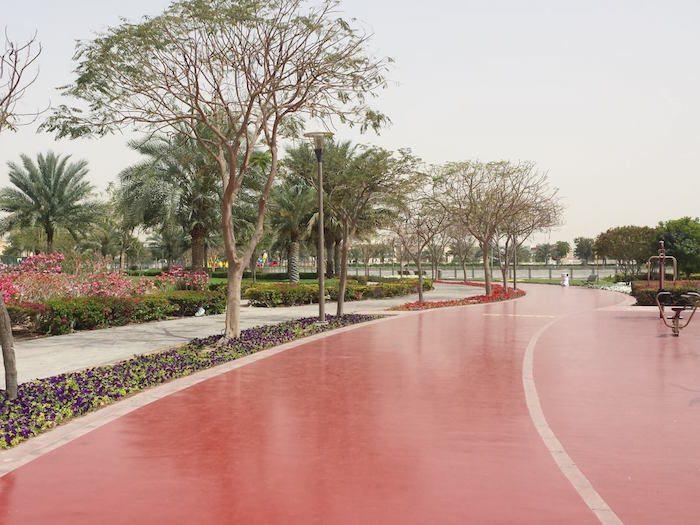 صالات رياضية في الهواء الطلق في حدائق دبي