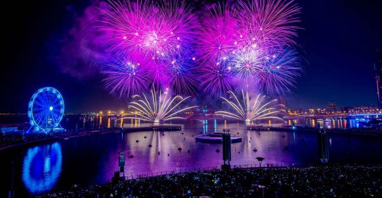احتفالات رأس السنة في دبي فستيفال سيتي