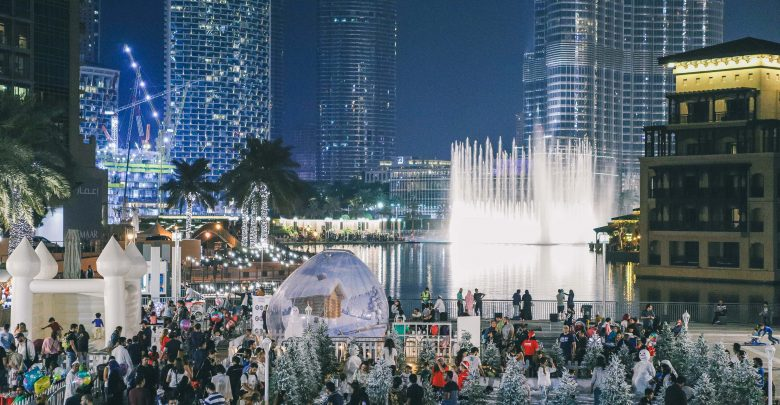 الحديقة الثلجية في وسط مدينة دبي