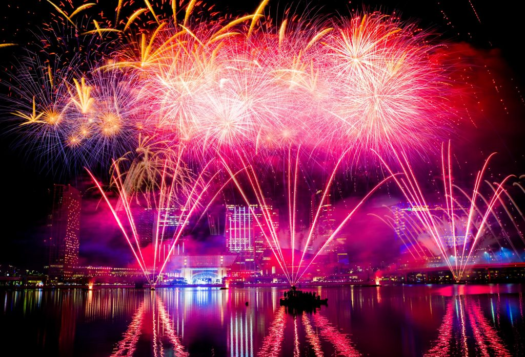 احتفالات جزيرة الماريه برأس السنة