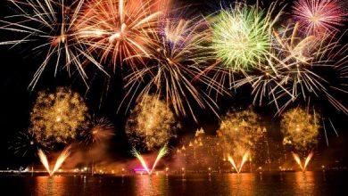 Photo of عروض الألعاب النارية في نخلة جميرا احتفالاً برأس السنة 2019