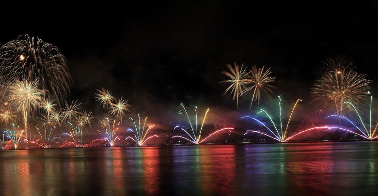 عرض الألعاب النارية في رأس الخيمة خلال رأس السنة 2018