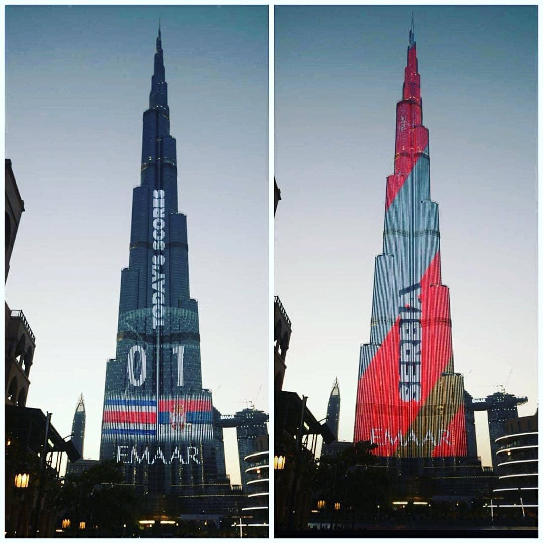 برج خليفة يحتفل بكأس العالم 2018