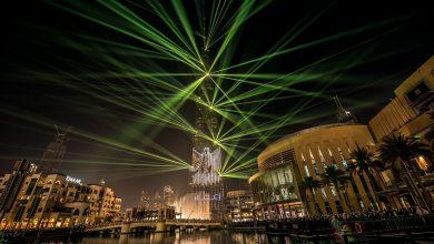 صورة استمرار عروض الليزر والأضواء في برج خليفة لنهاية مارس 2019