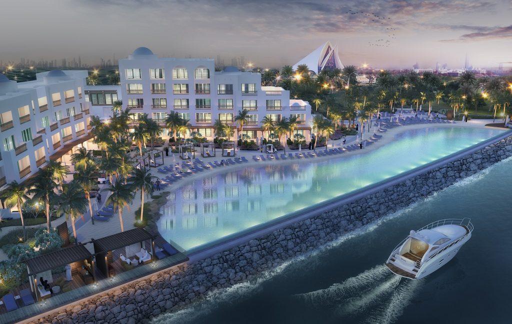 بحيرة لاجون في بارك حياة دبي