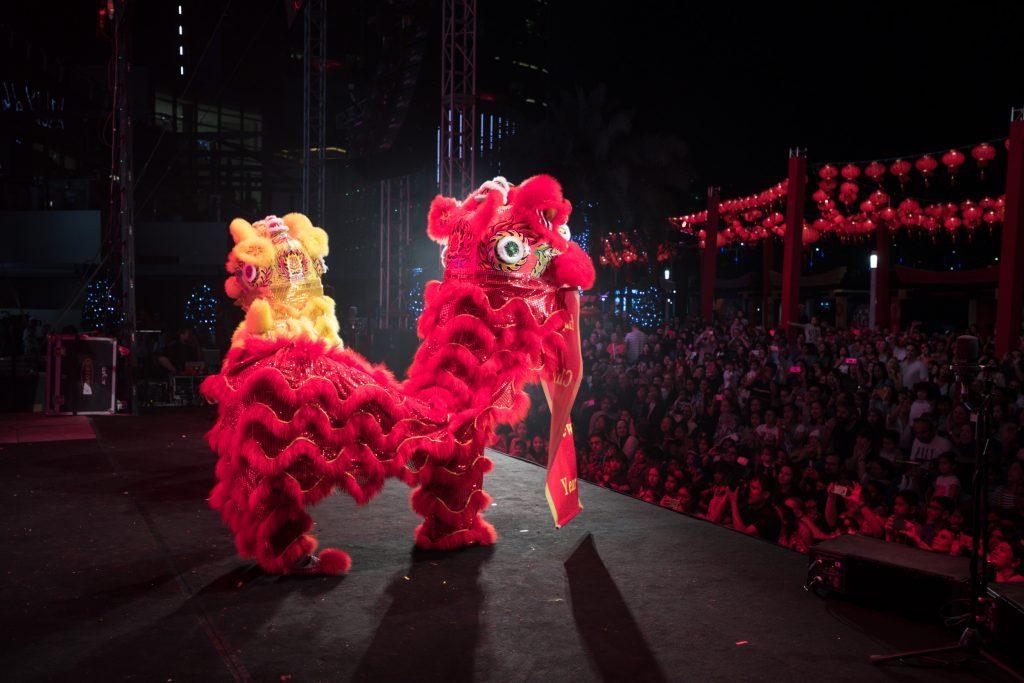 احتفالات رأس السنة الصينية في جزيرة الماريه