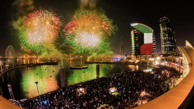 احتفالات اليوم الوطني لدولة الكويت في دبي فستيفال سيتي مول