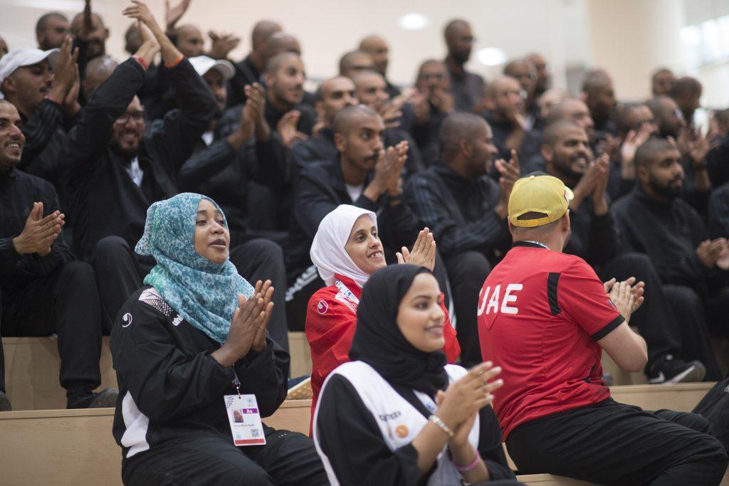 مبادرة حاضرين خلال الأولمبياد الخاص الألعاب العالمية أبوظبي