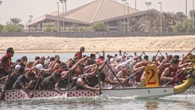 صورة تحدي قوارب التنين في مرسى بلازا الخور
