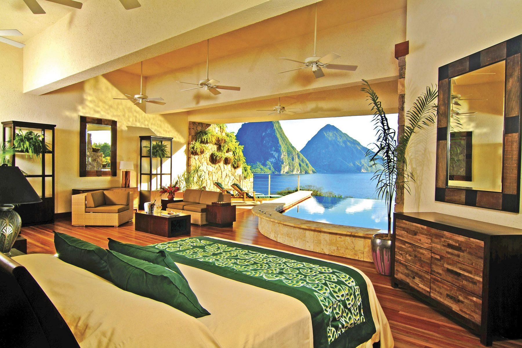 منتجع جيد ماونتن Jade Mountain Resort