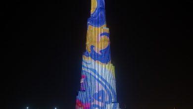 صورة برج خليفة يحتفل بحلول شهر رمضان المبارك على طريقته الخاصة