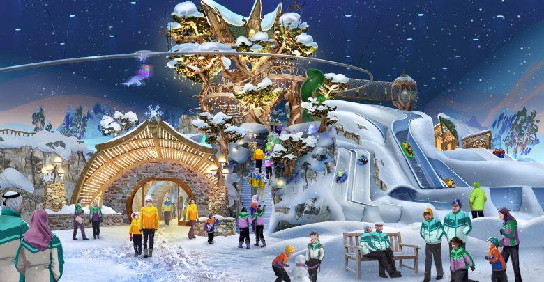 قريبا إفتتاح أكبر حديقة ألعاب ثلجية مغطاة في العالم بأبوظبي