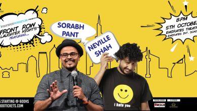 Photo of عرض الفنانين الكوميديان نيفيل شاه و سوراب بانت في دبي
