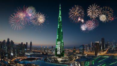 صورة أنشطة متنوعة في دبي مول و وسط مدينة دبي إحتفاءاً بمناسبة اليوم الوطني السعودي