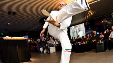 صورة مطعم بيتشه يستضيف بطل إعداد البيتزا بالحركات البهلوانية باسكوالينو بارباسو