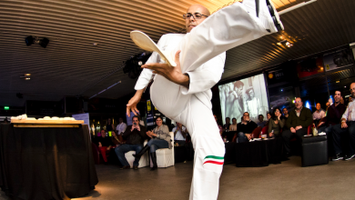 Photo of مطعم بيتشه يستضيف بطل إعداد البيتزا بالحركات البهلوانية باسكوالينو بارباسو